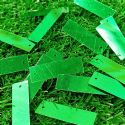 Sequins, green, 10mm x 33mm, 43 pieces, 5g, Rectangular, Sequins are shiny, [CZP620]